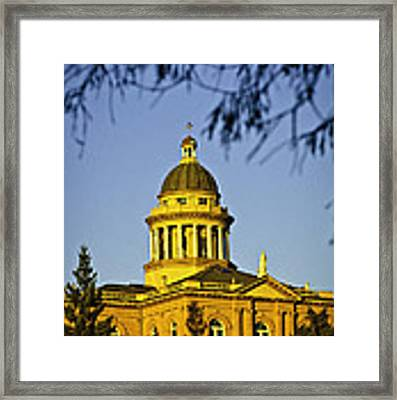 Historic Auburn Courthouse 5 Framed Print by Sherri Meyer