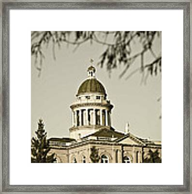 Historic Auburn Courthouse 6 Framed Print by Sherri Meyer