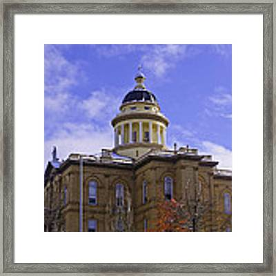 Historic Auburn Courthouse 7 Framed Print by Sherri Meyer