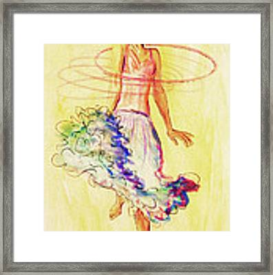 Hoop Dance Framed Print by Angelique Bowman