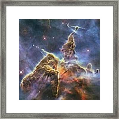 Hubble's Fantasy Mountaintops  Framed Print by Barry Jones