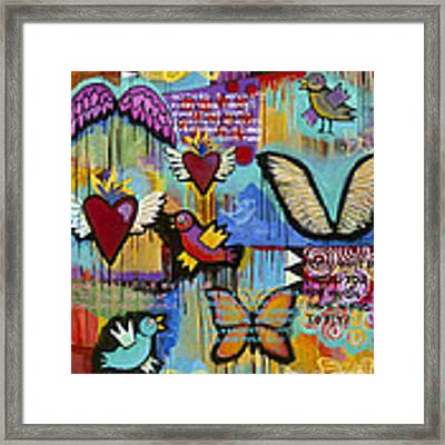I Have Wings To Fly Framed Print by Carla Bank