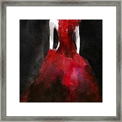 Inspired By Alexander Mcqueen Fashion Illustration Art Print Framed Print by Beverly Brown