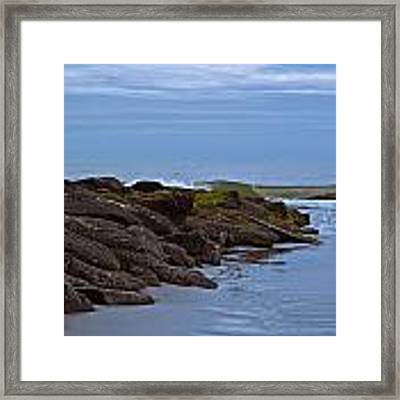 Jetty Vs Waves Framed Print by Francis Trudeau