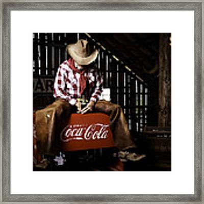 Just Another Coca-cola Cowboy 3 Framed Print by James Sage