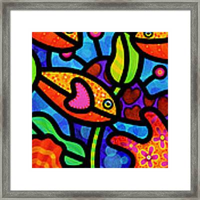Kaleidoscope Reef Framed Print