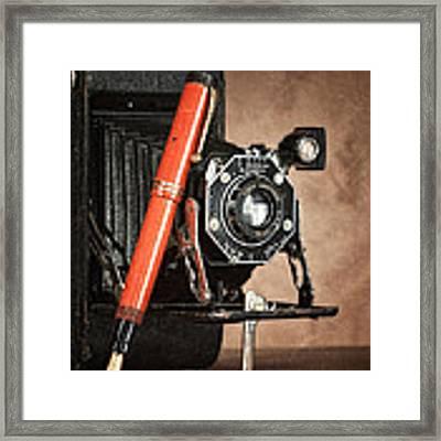 Kodak And Parker Still Life Framed Print by Tom Mc Nemar