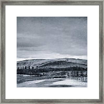 Land Shapes 11 Framed Print by Priska Wettstein