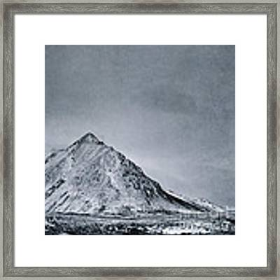 Land Shapes 9 Framed Print