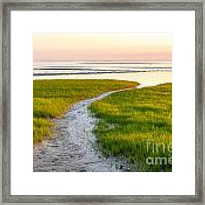 Last Light At First Encounter Beach 1 Framed Print by Susan Cole Kelly