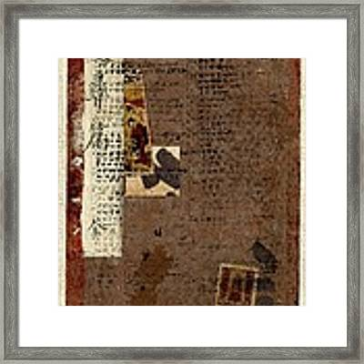 Leather Journal Collage Framed Print by Carol Leigh