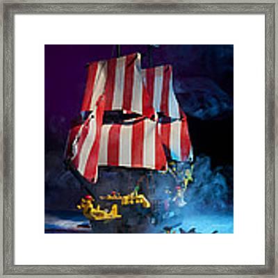 Lego Pirate Ship Framed Print