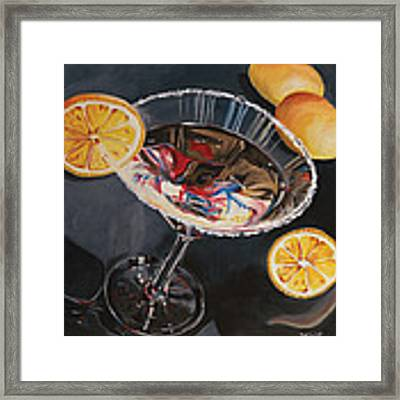 Lemon Drop Framed Print by Debbie DeWitt