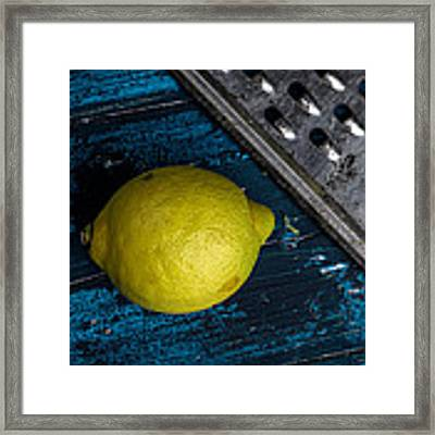 Lemon Framed Print by Nailia Schwarz