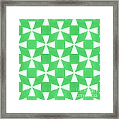 Lime Twirl Framed Print