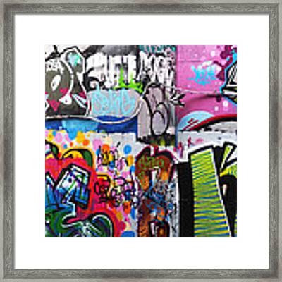 London Skate Park Abstract Framed Print by Rona Black