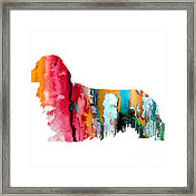 Long Haired Dachshund 2 Framed Print