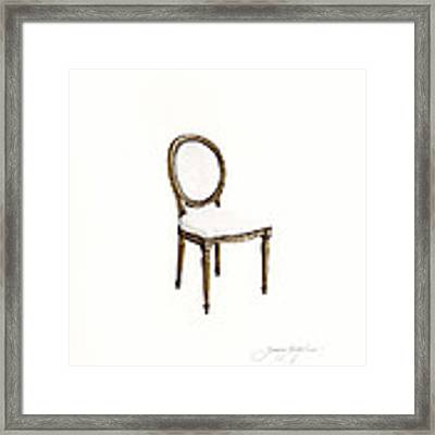 Louis Style Chair Framed Print