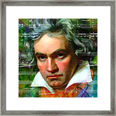 Ludwig Van Beethoven 20140122v2 Framed Print by Wingsdomain Art and Photography