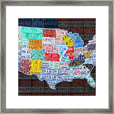 Us Map Framed Art Prints Fine Art America - Us map framed