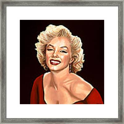 Marilyn Monroe 3 Framed Print by Paul Meijering