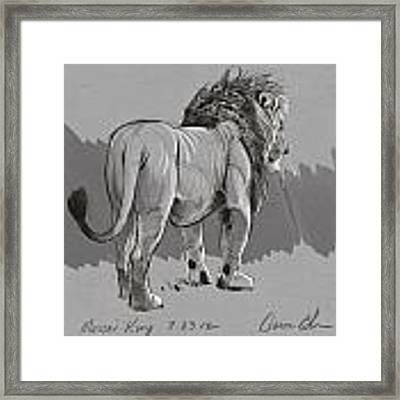 Masai King Framed Print