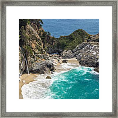 Mcway Falls Big Sur Framed Print by Priya Ghose