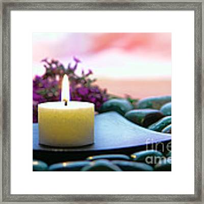 Meditation Candle Framed Print by Olivier Le Queinec