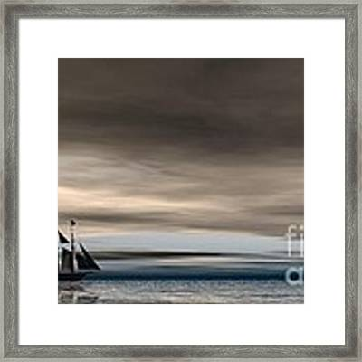 Melancholy Waters Framed Print by Sandra Bauser Digital Art