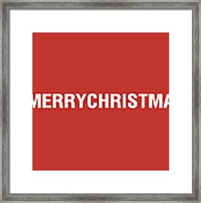 Merry Christmas Hashtag Framed Print