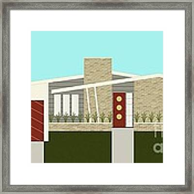 Mid Century Modern House 3 Framed Print by Donna Mibus