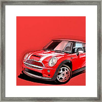 Mini Cooper S Red Framed Print