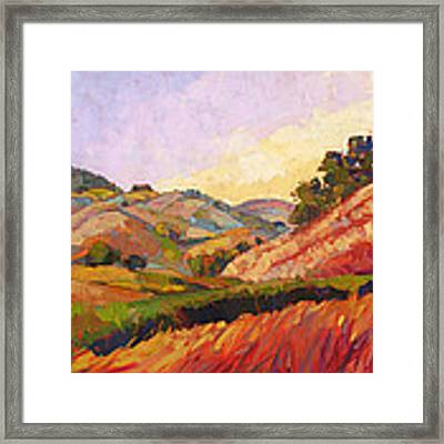 Morning Fields Framed Print by Erin Hanson