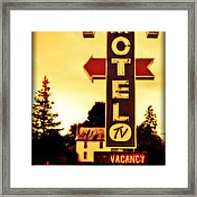 Motel Hell Framed Print