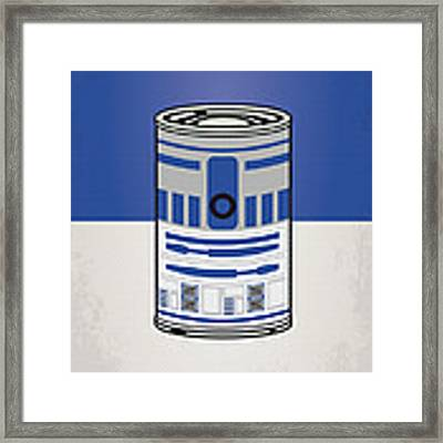 My Star Warhols R2d2 Minimal Can Poster Framed Print by Chungkong Art