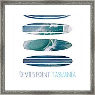 My Surfspots Poster-5-devils-point-tasmania Framed Print by Chungkong Art