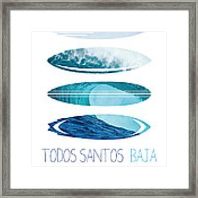 My Surfspots Poster-6-todos-santos-baja Framed Print by Chungkong Art