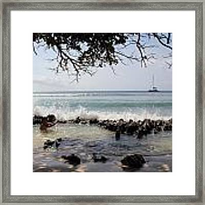 Natural Jacuzzi Framed Print by Debbie Cundy
