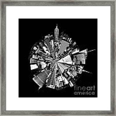 New York 2 Circagraph Framed Print