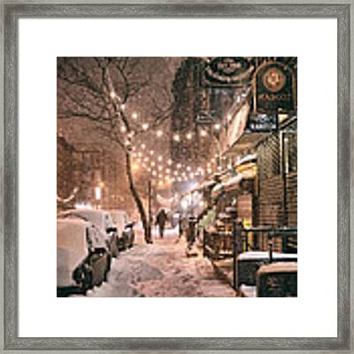 New York City - Winter Snow Scene - East Village Framed Print by Vivienne Gucwa