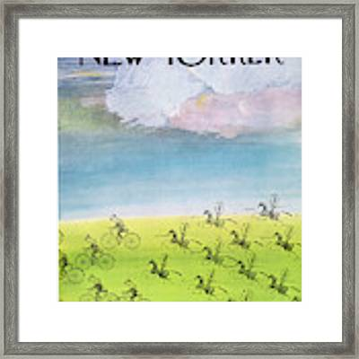 New Yorker October 15th, 1966 Framed Print by Saul Steinberg