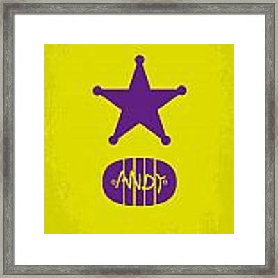 No190 My Toy Story Minimal Movie Poster Framed Print