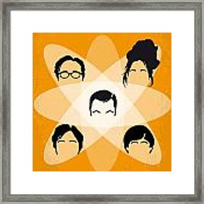 No196 My The Big Bang Theory Minimal Poster Framed Print by Chungkong Art
