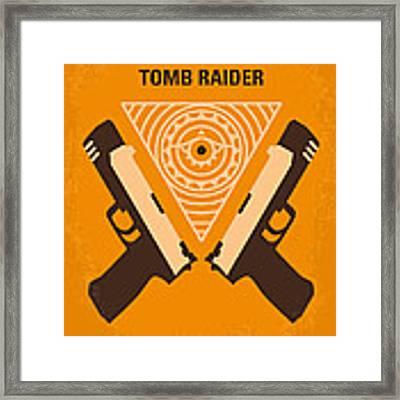 No209 Lara Croft Tomb Raider Minimal Movie Poster Framed Print by Chungkong Art