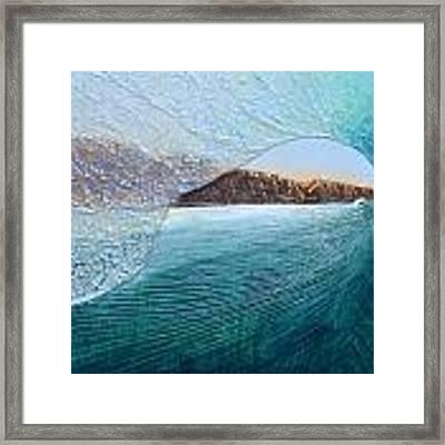 North Peak Barrel Framed Print by Nathan Ledyard