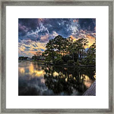 North Shore Sunset Framed Print by Williams-Cairns Photography LLC