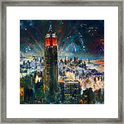 Nyc In Fourth Of July Independence Day Framed Print