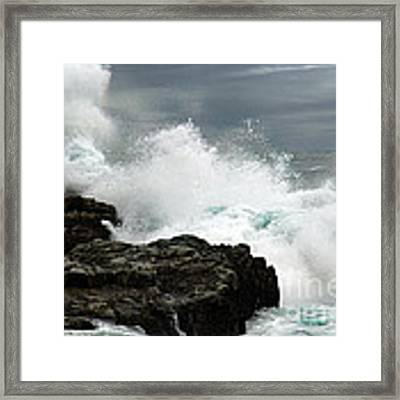 War Of Water Framed Print by Glenda Wright