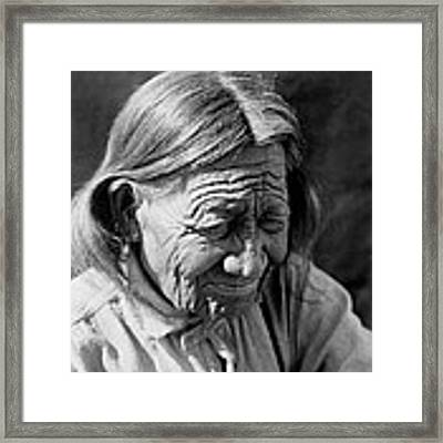 Old Arapaho Man Circa 1910 Framed Print