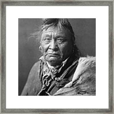 Old Crow Man Circa 1908 Framed Print by Aged Pixel